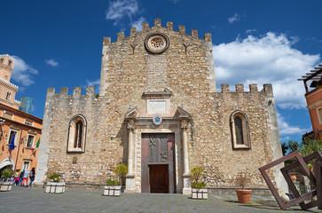 Fotomurales - Taorimina - The Duomo - (church St. Pancrazio).