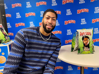 Los Angles Lakers forward Davis attends the launch of his new line of Ruffles potato chips in Los Angeles