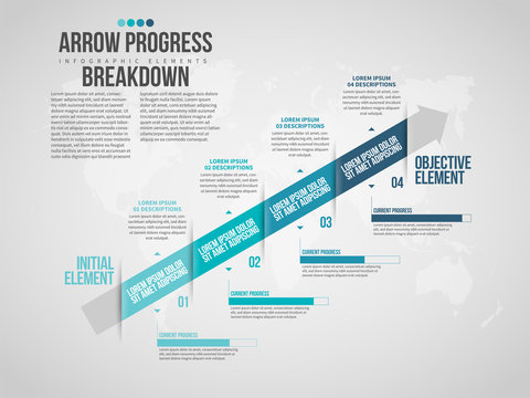 Arrow Progress Breakdown Infographic