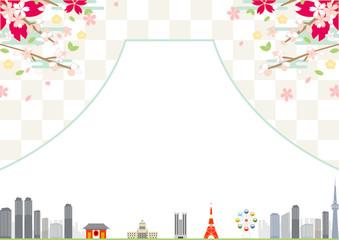 桜 東京 富士