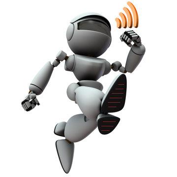通信しながら走る人工知能のロボット