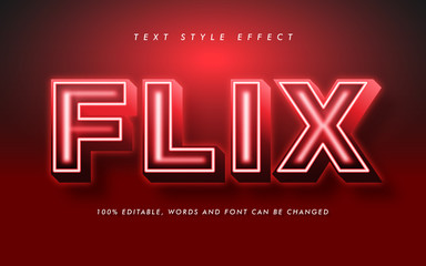 Red Bold Text Style Effect for Movie and Poster Headline