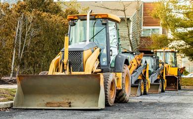 excavator bulldozer Backhoe heavy machinery home improvement works Fotomurales