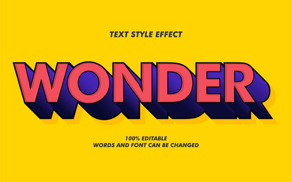 3D Wonder Bold Text Style Effect for Movie Poster