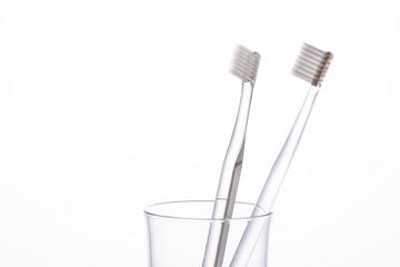 洗面台の歯ブラシ