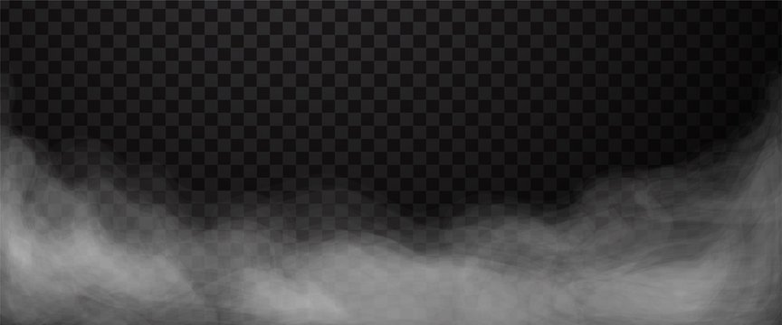 Fog or smoke abstract background. Mist or smog isolated on transparent backdrop