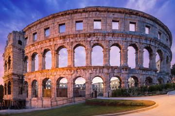 Fotomurales - Coliseum in Pula, Croatia.