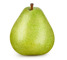Pear isolated on white. Pear Clipping Path.