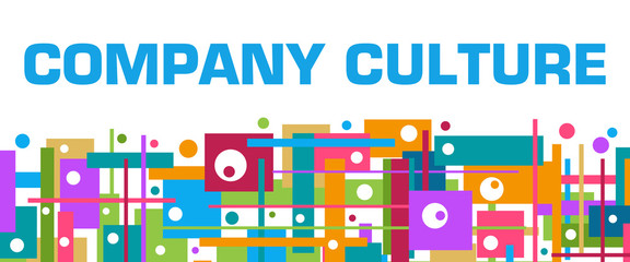 Company Culture Colorful Random Squares Bottom Background Text