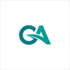 Fototapeta Initial letter ga or ag logo vector design templates obraz