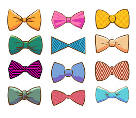 bows vector set collection graphic clipart design