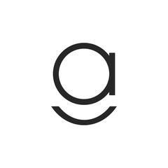 Fototapeta initial letter ga or ag logo vector designs obraz