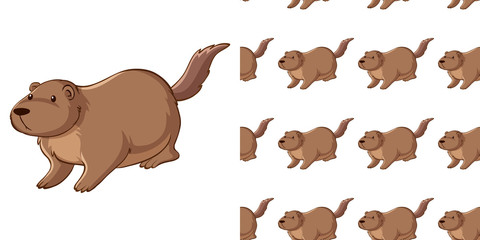 Seamless background design with guinea pig