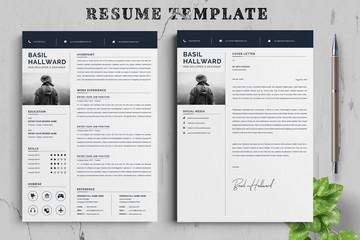 Resume template. Cv professional or designer jobs resumes. Work in best corporate. Professional job hiring list, business work hr interview document vector illustration