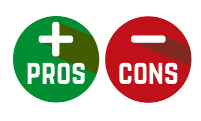 Pros and Cons in red and green