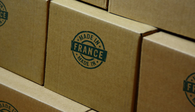 Made in France stamp and stamping