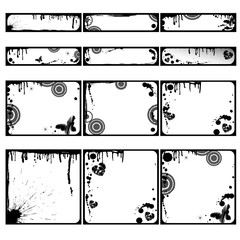 Deurstickers Vlinders in Grunge Frames