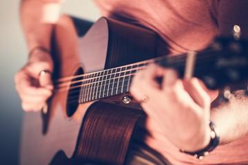 Fototapete - Guitar Playing Musician