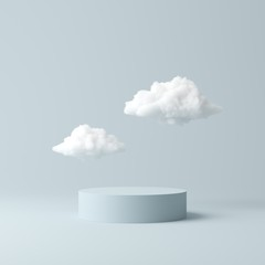 Fototapeta Abstract background, mock up scene geometry shape podium for product display. 3D rendering obraz