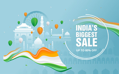 Indian Republic Day Sale Poster Design Template