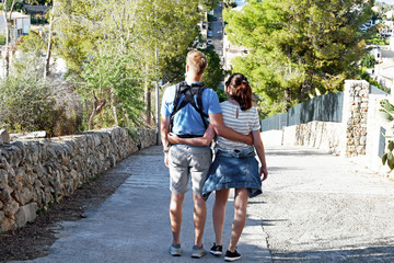 Young Couple with Baby - Mallorca -Spain