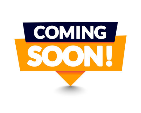 Vector Illustration Modern Coming Soon Banner Icon. Flat Web Label Element.