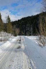 winter mountian road