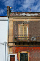 facade of italian style building