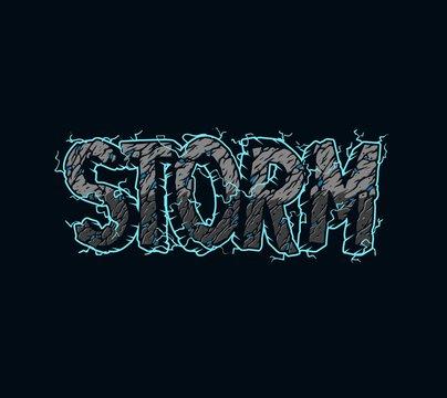 Vintage Storm inscription template