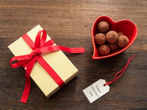 バレンタインデーのイメージ トリュフチョコレート