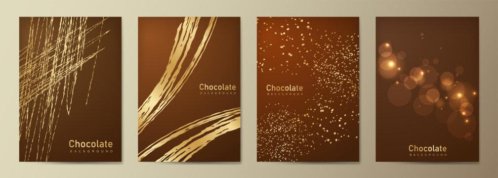 チョコレートの背景 バレンタインデーのテンプレート メニューカタログ 茶色の背景