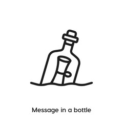 message in a bottle icon vector. message in a bottle icon vector symbol illustration. Modern simple vector icon for your design. message in a bottle icon vector.