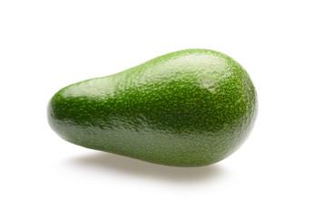 one avocado isolated on white