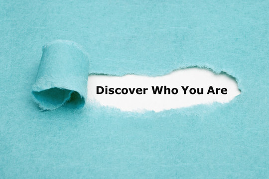 Discover Who You Are Finding Yourself Concept