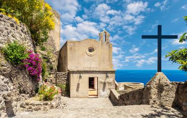 Wall Mural - Church at Aragonese Castle, Ischia island, Italy