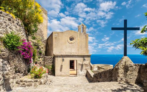 Wall mural Church at Aragonese Castle, Ischia island, Italy