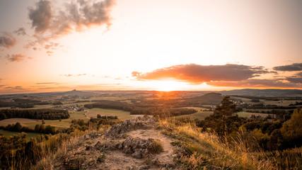 Foto op Plexiglas Diepbruine Sonnenuntergang
