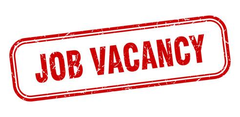 job vacancy stamp. job vacancy square grunge red sign