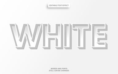 Wall Mural - 3d white editable font effect