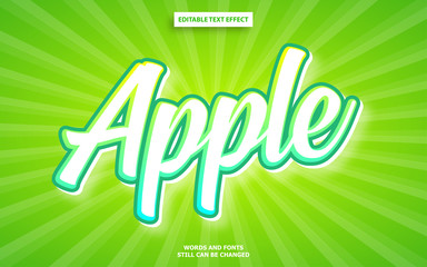 Wall Mural - Apple color editable text effect