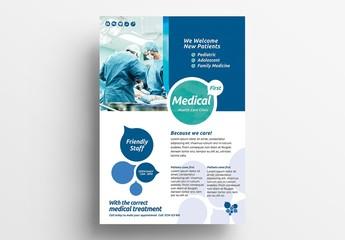 Medical Service Flyer Layout