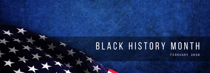 Black History Month with American flag