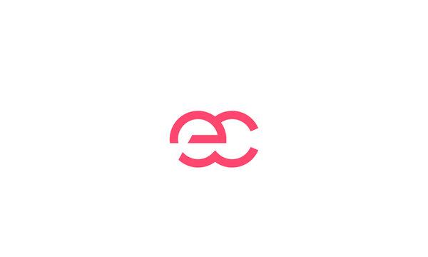 Alphabet letters monogram icon logo EC