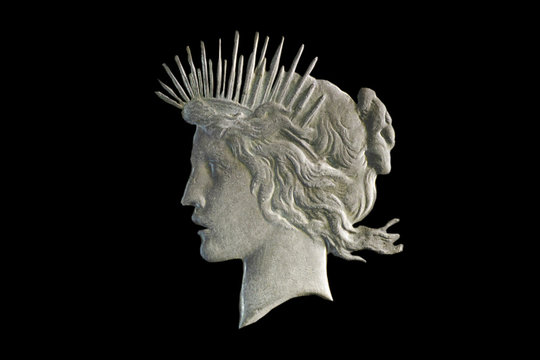Peace Dollar Coin Bust