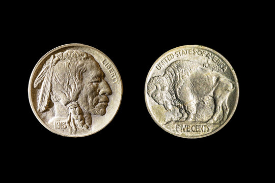 Buffalo Nickel Front and Rear