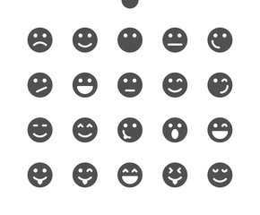 Emotions v1 UI Pixel Perfect Well-crafted Vector Solid Icons 48x48 Ready for 24x24 Grid for Web Graphics and Apps. Simple Minimal Pictogram