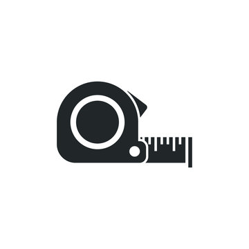 Measurement tape icon template color editable. Tape measurement symbol vector sign isolated on white background illustration for graphic and web design.