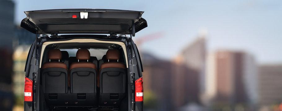 passenger minivan car for transportation office staff to work