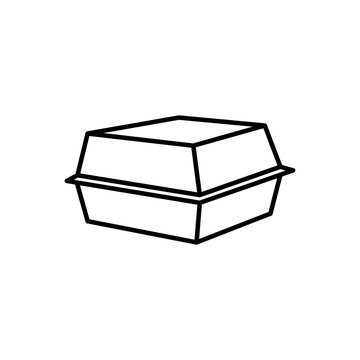 Styrofoam box icon