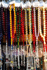 Deurstickers Historisch mon. Set of rosary praying beads of for meditation and praying
